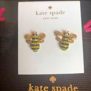 Kate Spade NWT Bee Picnic Perfect Stud Earrings